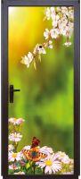 Виниловая наклейка на дверь - Весна