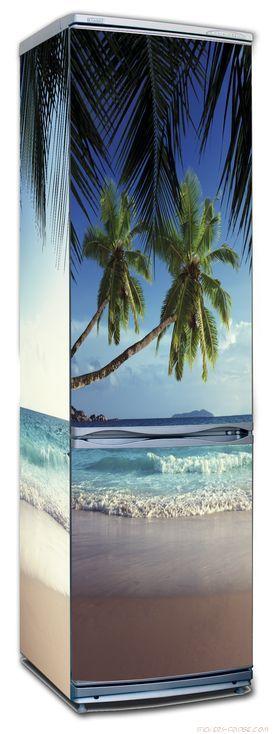 Наклейка на холодильник - Пляж 1