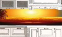 Фартук кухни с фотопечатью - Пляж 3