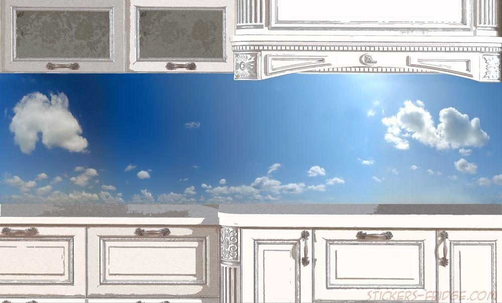 Фартук для кухни, наклейка - Небо-день