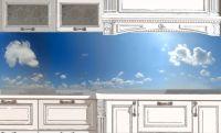 Фартук кухни с фотопечатью. Наклейка - Небо-день.