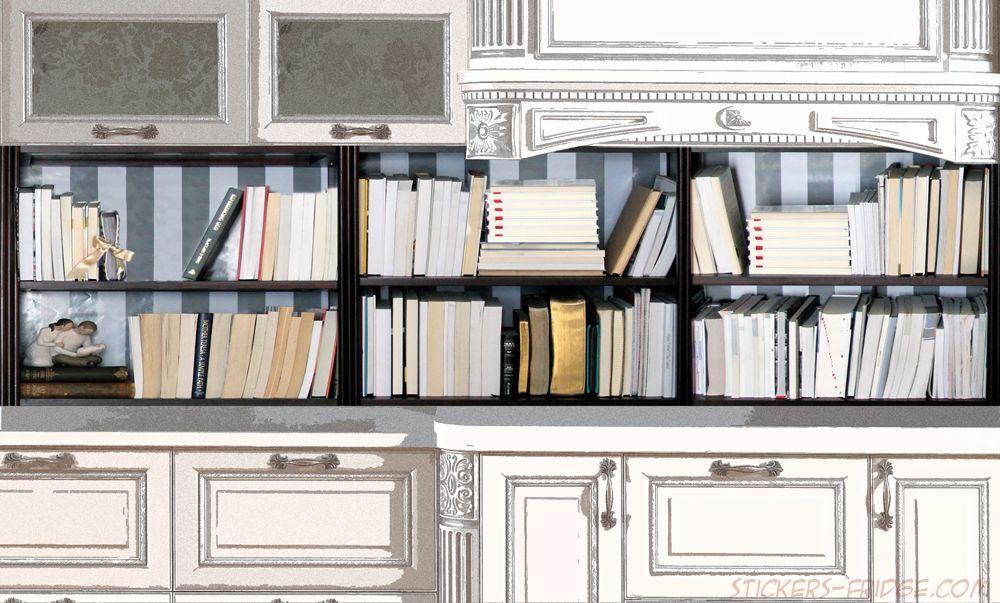 Фартук для кухни - Книжный шкаф