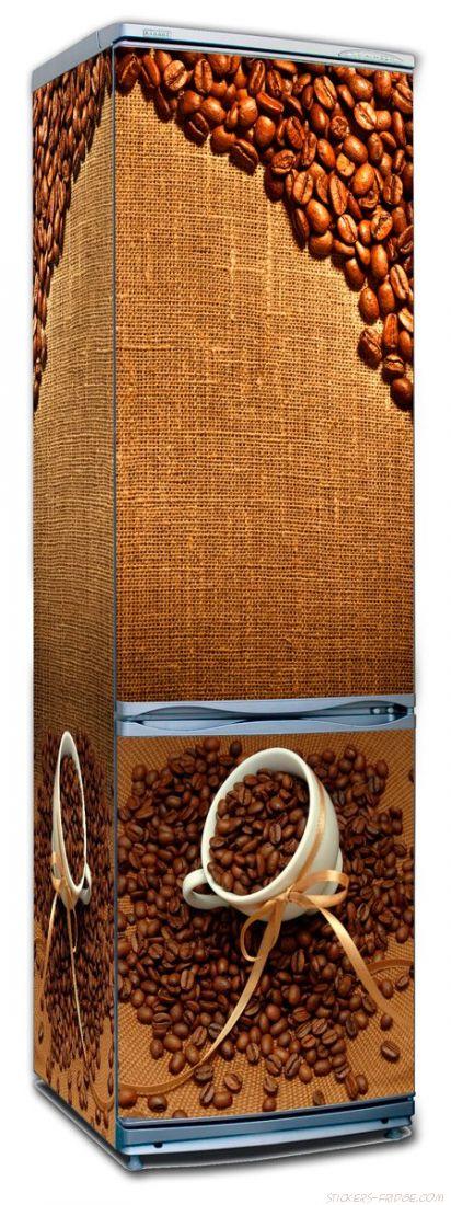 наклейка на холодильник - Кофе 2. Зерна