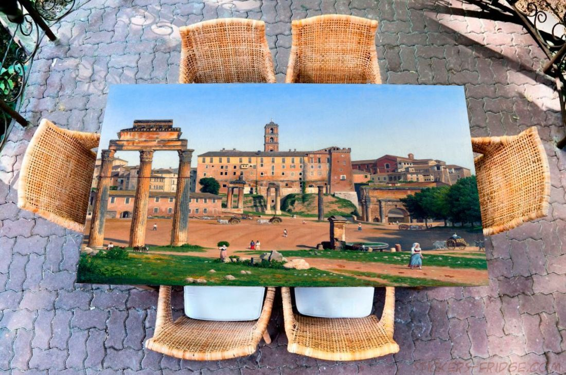 Наклейка на стол - Вид на Форум Рим
