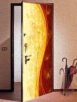 Виниловая наклейка на дверь - Роскошь 4