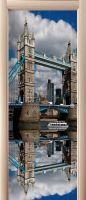 Виниловая наклейка на дверь - Лондонский мост