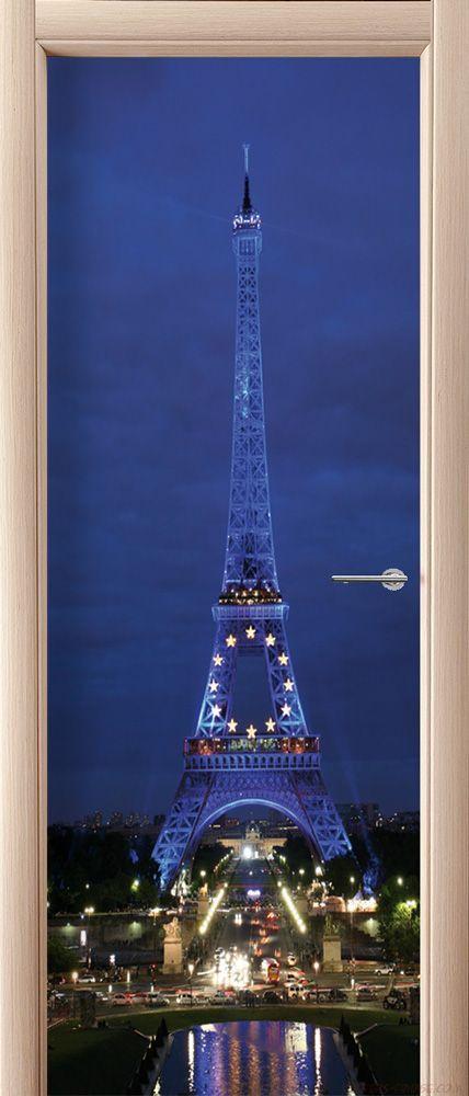 наклейка на дверь - Paris