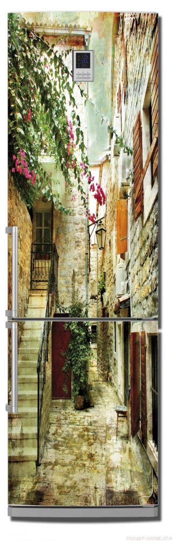 наклейки на холодильник - старые улочки Греции 2