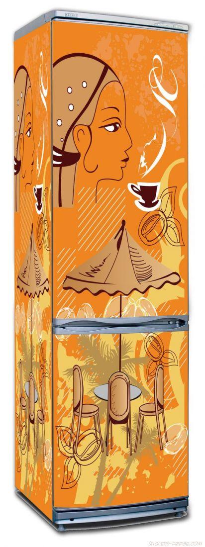 Наклейка на холодильник  - Кофе 5. Бразилия
