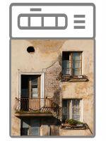 Наклейка на посудомоечную машину и кухню - Балкон