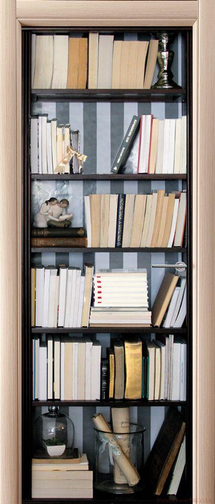 Фотообои на дверь - Книжный шкаф