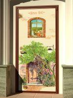 декоративная наклейка на дверь - 1840