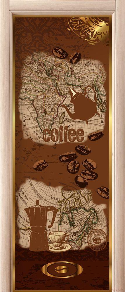 Наклейка на дверь - Все пьют кофе