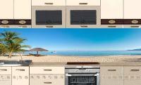 Фартук для кухни. Наклейка - Пляж