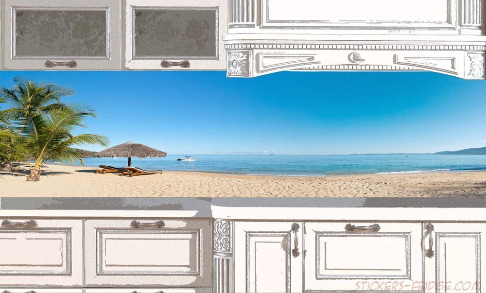 Фартук для кухни, наклейка - Пляж