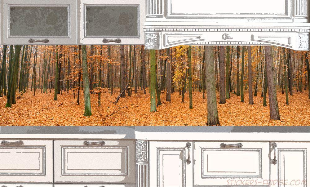 Фартук для кухни - Осенний лес