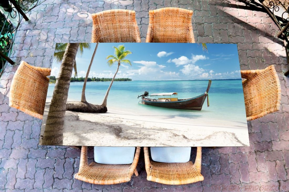 Наклейка на стол - Пляж 4