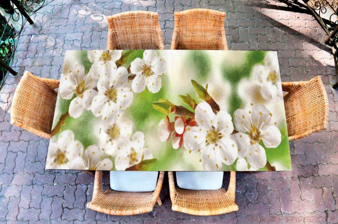 Наклейка на стол - Весенние зарисовки